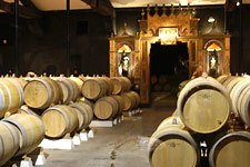 Barrel room at Cos d'Estournel