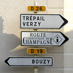 Signpost in Ambonnay