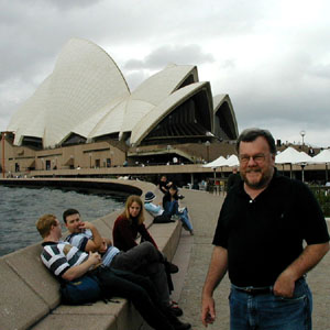 Robin Garr and the Sydney Opera House