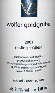 Vollenweider Wolfer Goldbrube
