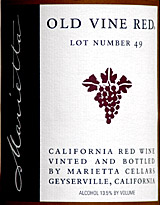 Marietta Old Vine Red