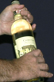 Opening the screw cap